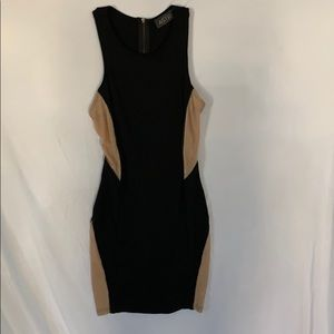 New Sexy black and beige dress
